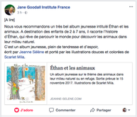 Jane Goodall Institute France à propos d'Ethan...